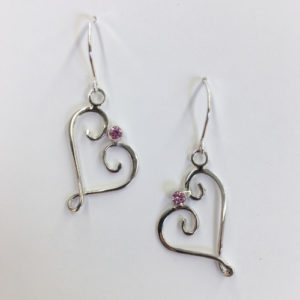 Beaulieu earrings pink sapphire