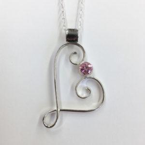 Beaulieu heart pendant pink sapphire