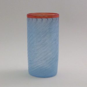 Jordana blue cup with orange rim 500