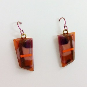 Kuminski orange brown earrings CK05b 500