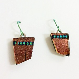 Kuminski orange earrings CK04a 500