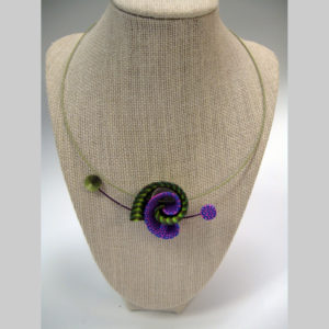 Samitz purple -green twist neck