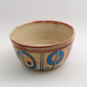 Sibel bowl with geometrics 500