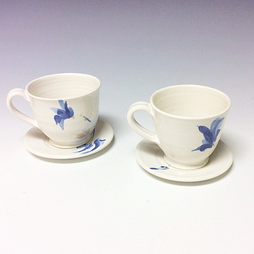 Tornow bl leaf cup and saucer LGS4 500