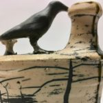 crow flask detail
