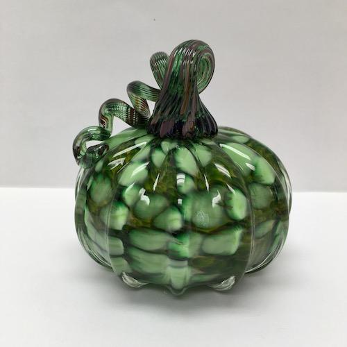 green spotted pumpkin