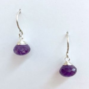 lorette amethyst earrings