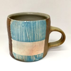 sarah burns mug aqua