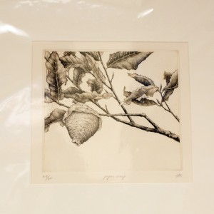 wasp tree etching
