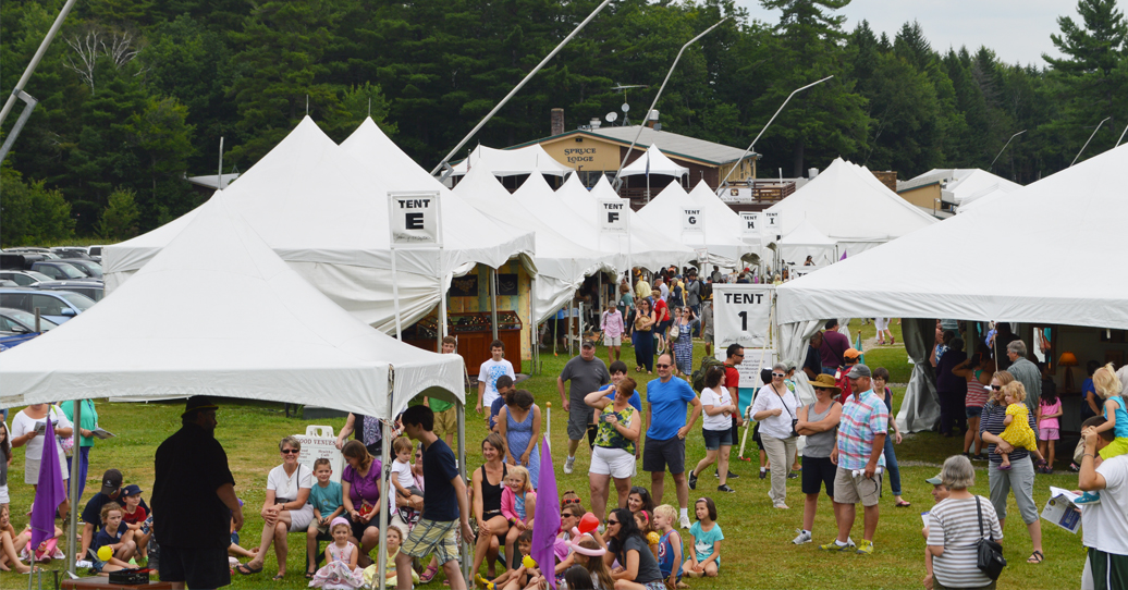 The Annual Craftsmen's Fair at Mount Sunapee in Newbury, NH.